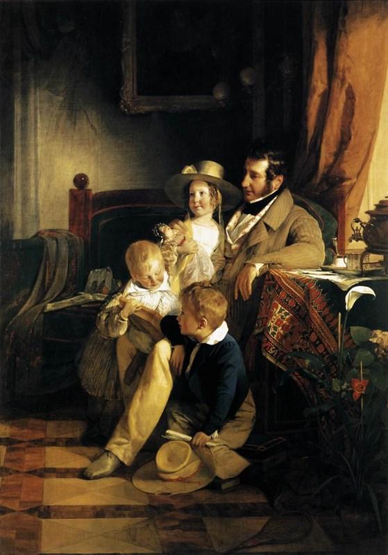 Rudolf von Arthaber with his Childre