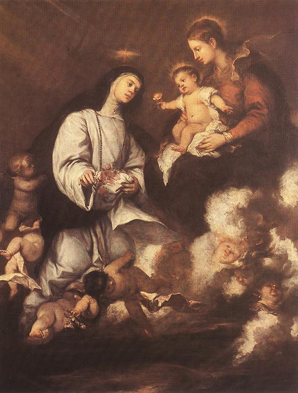 St. Rose of Lima before the Madonna