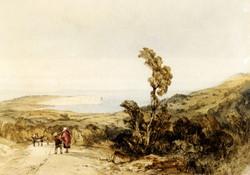Sandown Bay, Isle Of Wight  Watercol