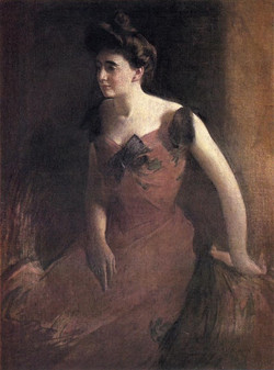 Woman in a Red Dress