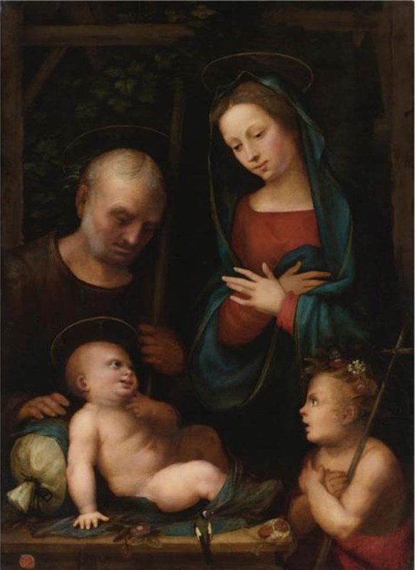 Holy Family with Saint John the Bapt