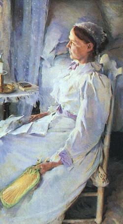 Mrs Jedediah H. Richards 1895  Oil o