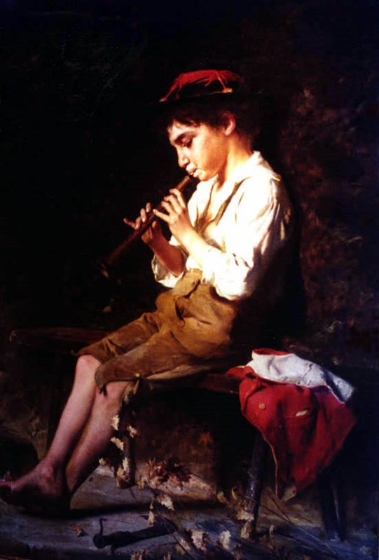 Boy with Recorder