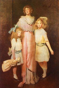 Mrs. Daniels with Two Children