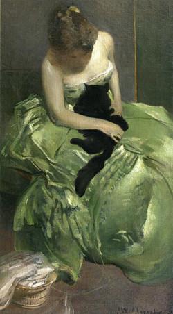 The Green Dress circa 1890-circa 189