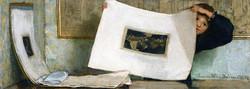 Anna Alma-Tadema Leafing through a P