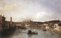 View of Verona and the River Adige f
