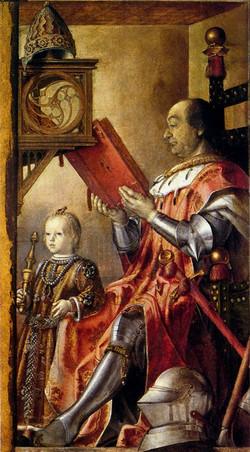 Federico Da Montefeltro With His Son