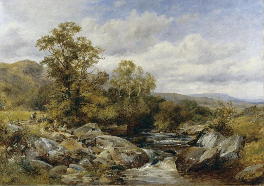 Children by a Stream