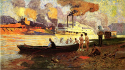 Steamboat on the Ohio circa