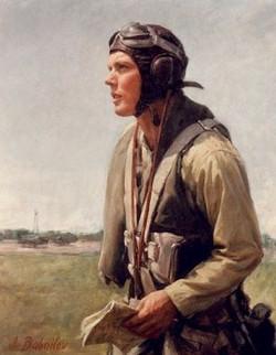 World War II Pilot: Portrait of B. E
