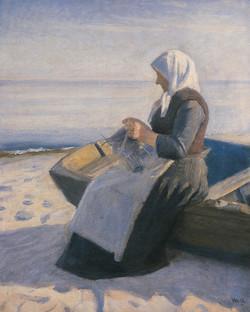Fisherman's Wife Knitting on Skagen