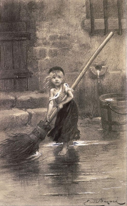 """Illustration of Cosette from """"Les Mi"""