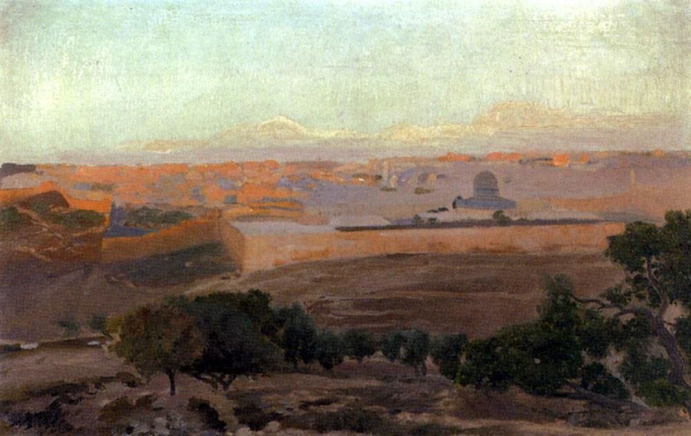 Blick Auf Jerusalem Vom Olberg Aus
