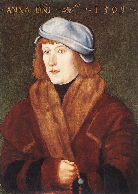 Portrait of a Young Man with a Rosar