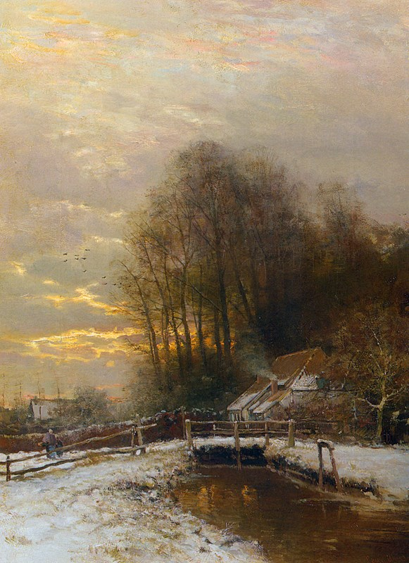 Winter Landscape with Peasant Woman