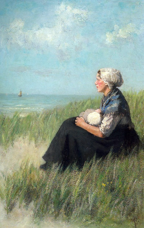 Mother and Child in the Dunes