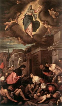 St Roche among the Plague Victims an