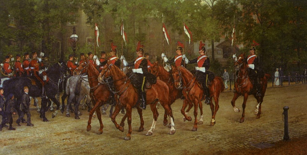 12th Lancers Saluting the Band of th