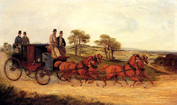 Mail Coaches on an Open Road