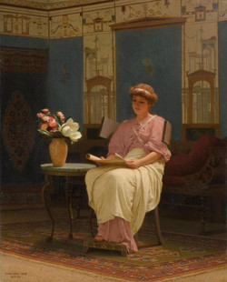 Lady Reading in a Pompeian