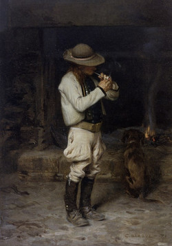 Bargue_Charles_The_Smoker_1871_Oil_on_Pa