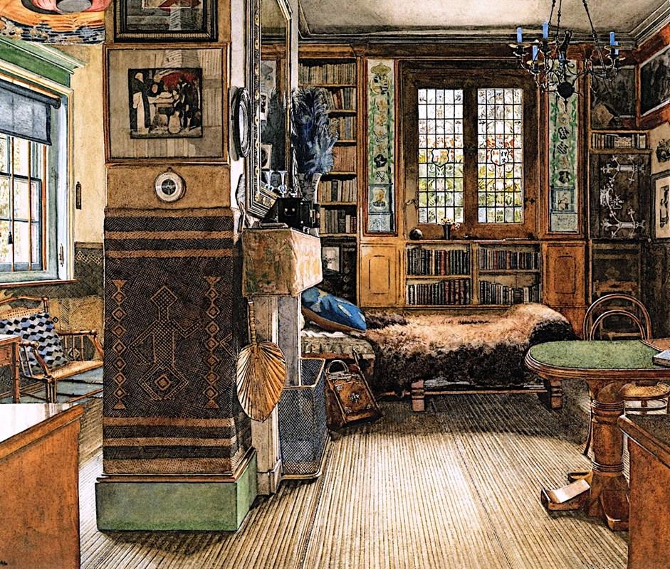 Sir Lawrence Alma-Tadema's Study in