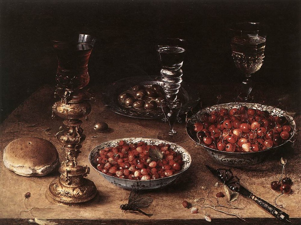 StillLife with Cherries and Strawbe