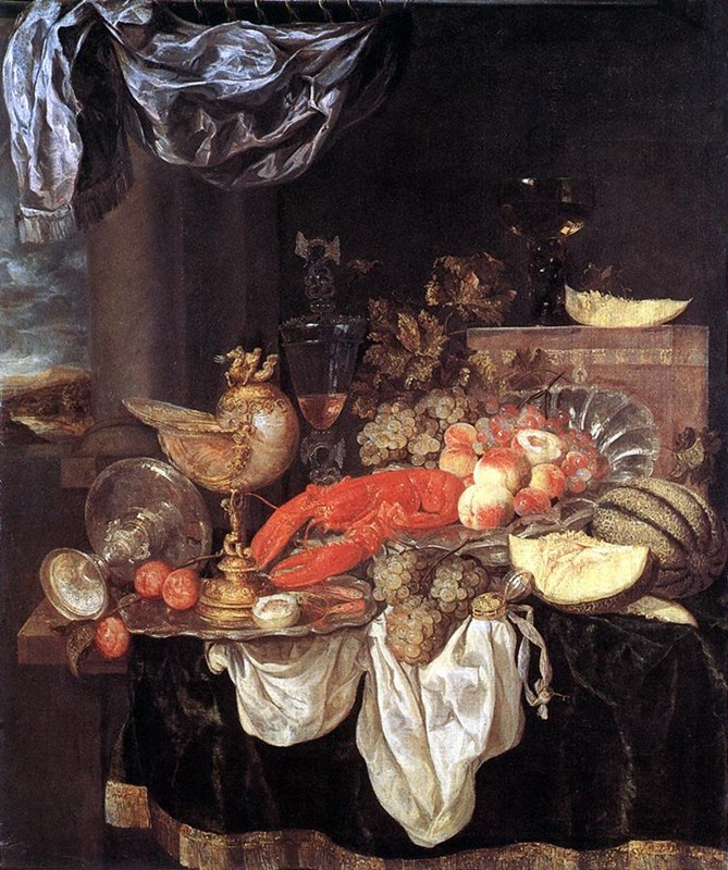 Large Still­life with Lobster