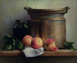 Copper Pot and Peaches