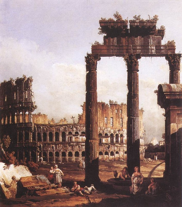 Capriccio with the Colosseum 1743-17
