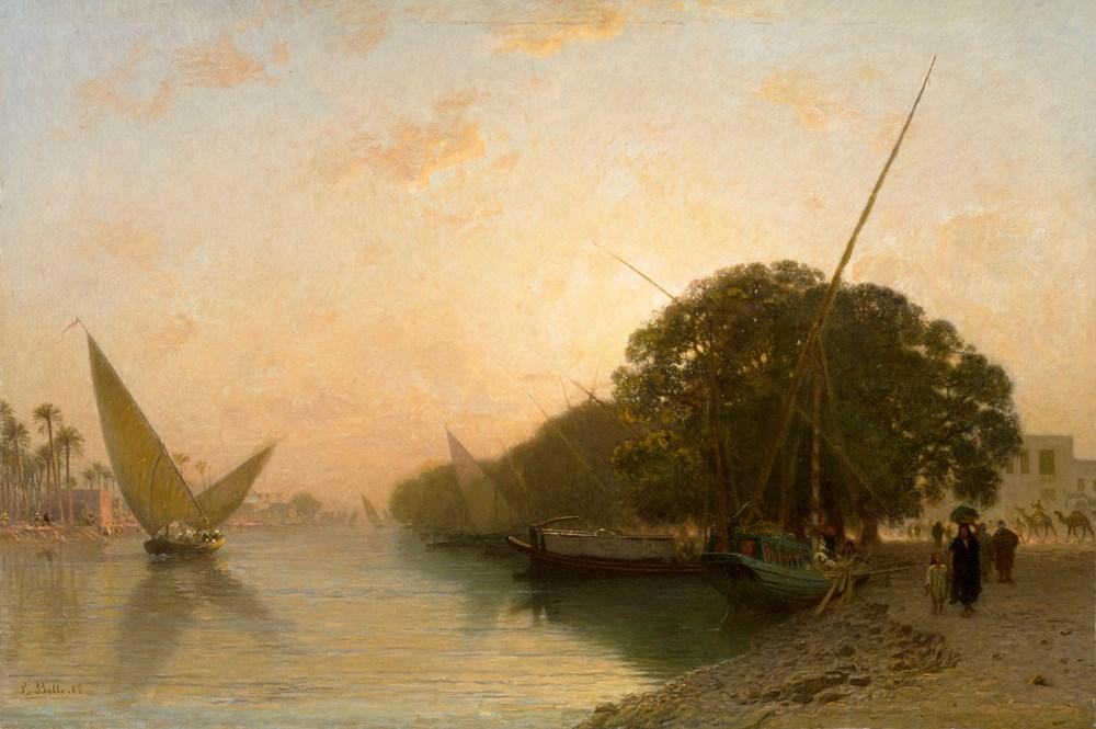 Canal de Mahmoudieh à Alexandrie le