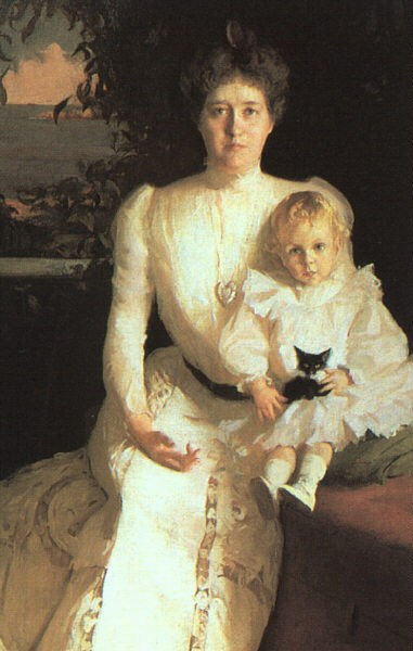 Mrs. Benjamin Thaw and her Son 1900