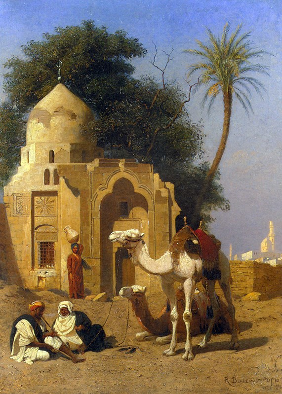 A Rest Outside the Mosque 1882