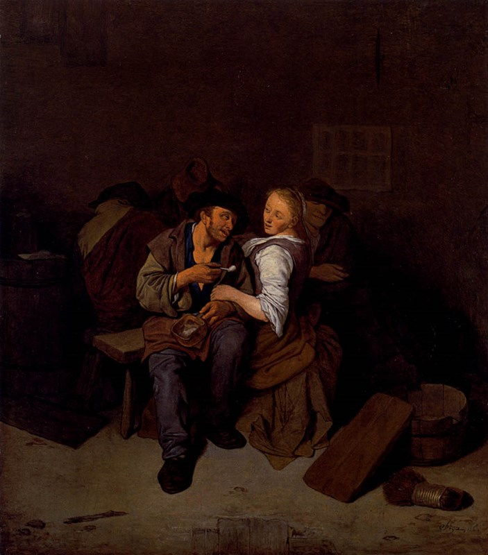 An Amorous Couple In A Tavern