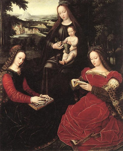 Virgin and Child with Saints  Wood