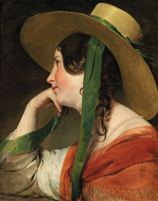 The Young Girl with the Straw Hat