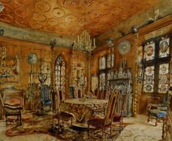 Schlossinterieur Im Renaissancestil