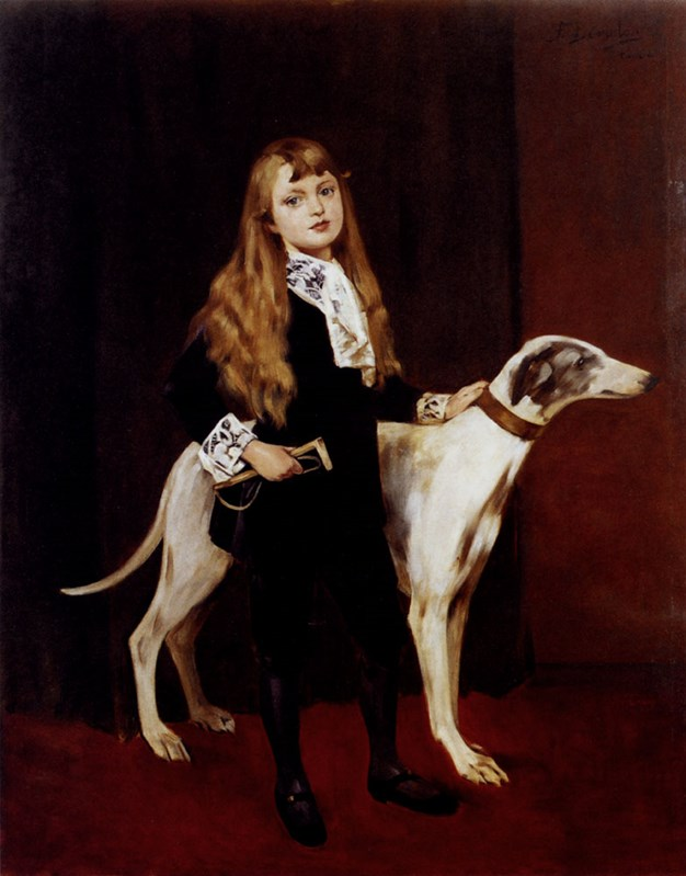 Young Girl With A Greyhound