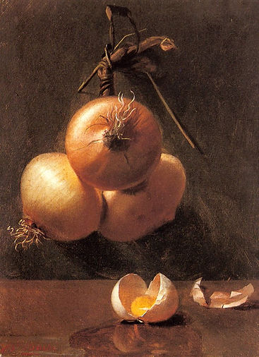a_still_life_with_onions_and_a_cracked_e