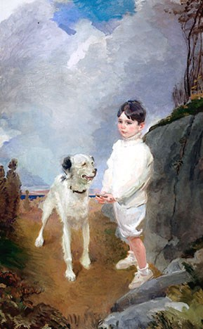 Lane Lovell and His Dog