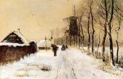 Wood Gatherers On A Country Lane In
