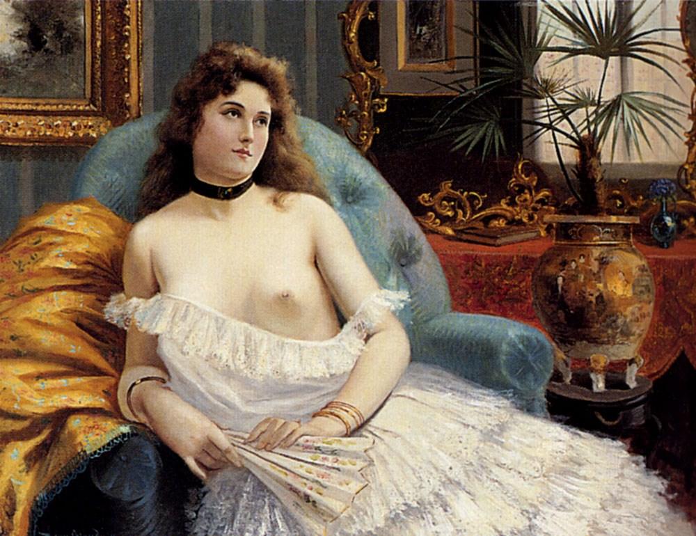 A Lady Holding A Fan