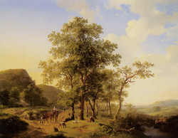 A Treelined River Landscape with