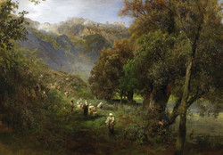 Summer Landscape on the Banks of the
