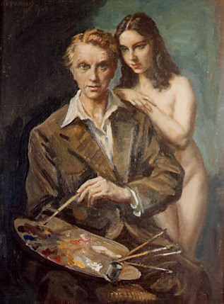 The artist and his model