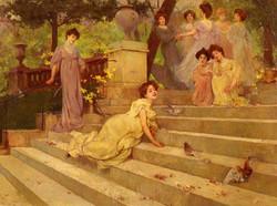 Girls on a Terrace