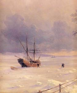 Frozen Bosphorus Under Snow - detail