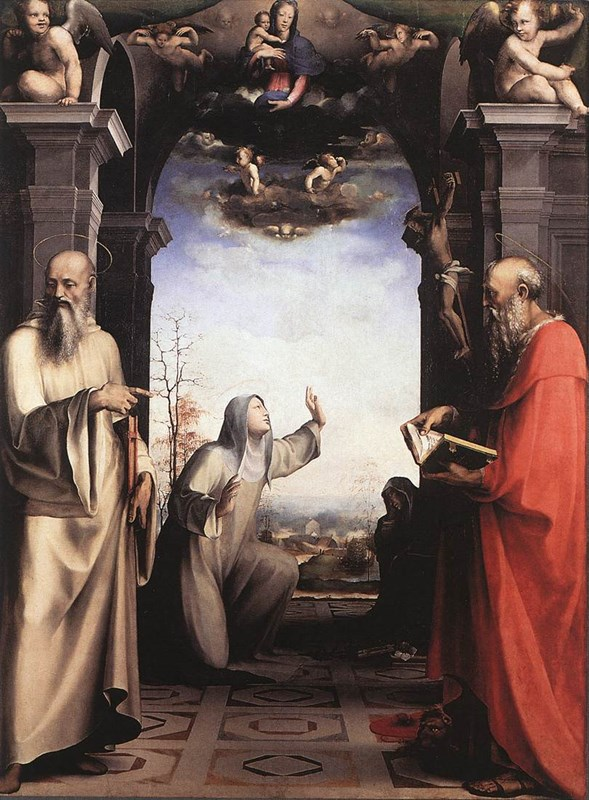 Stigmatization of St Catherine of Si