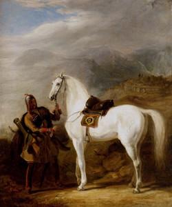 A Circassian chief preparing his sta